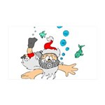 Scuba Diving Santa Wall Sticker