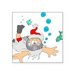 Scuba Diving Santa Sticker