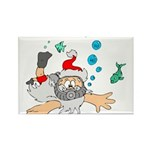 Scuba Diving Santa Magnets