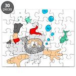 Scuba Diving Santa Puzzle