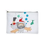 Scuba Diving Santa Makeup Bag