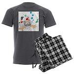 Scuba Diving Santa Men's Charcoal Pajamas