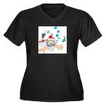 Scuba Diving Santa Plus Size T-Shirt
