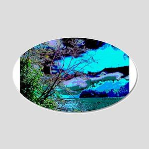 Lake Whatcom Fantasy 22x14 Oval Wall Peel