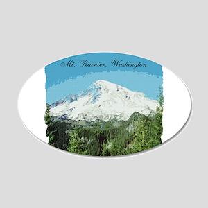 Mt. Rainier #2 22x14 Oval Wall Peel