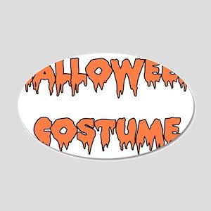 Halloween Costume 22x14 Oval Wall Peel