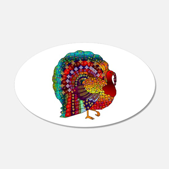 Thanksgiving Jeweled Turkey Wall Decal