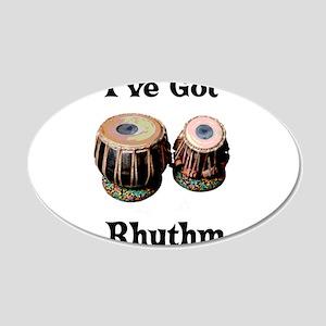 Rhythm 22x14 Oval Wall Peel