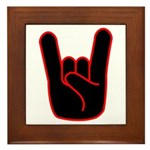 Heavy Metal Horns Framed Tile