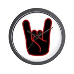 Heavy Metal Horns Wall Clock