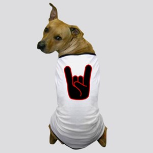 Heavy Metal Horns Dog T-Shirt