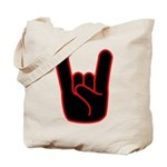 Heavy Metal Horns Tote Bag