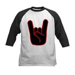 Heavy Metal Horns Kids Baseball Jersey