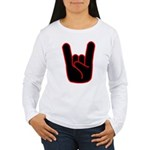 Heavy Metal Horns Women's Long Sleeve T-Shirt