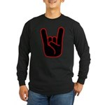 Heavy Metal Horns Long Sleeve Dark T-Shirt