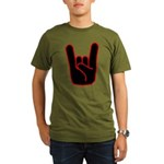 Heavy Metal Horns Organic Men's T-Shirt (dark)