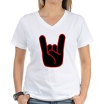 Heavy Metal Horns Women's V-Neck T-Shirt