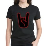 Heavy Metal Horns Women's Dark T-Shirt