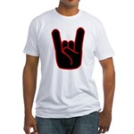Heavy Metal Horns Fitted T-Shirt