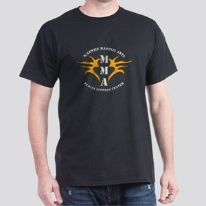 MMA Logo 2 - Gold White - Dark T-Shirt