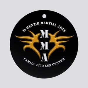 MMA Logo 2 - Gold White - Ornament (Round)