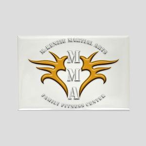 MMA Logo 2 - Gold White - Rectangle Magnet