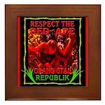 """OUR's """"Respect the Red Ape"""" Framed Tile"""