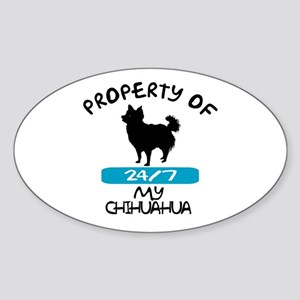 Chihuahua Longhaired Oval Sticker