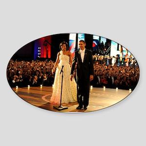 Barack Obama Inauguration Sticker (Oval)