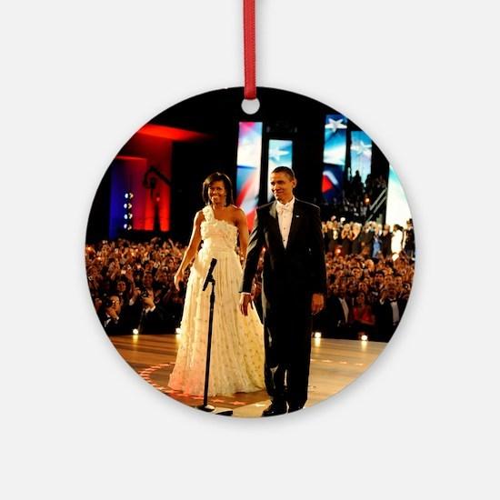 Barack Obama Inauguration Ornament (Round)