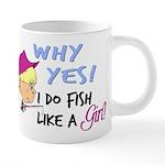 GIRLFISH 20 oz Ceramic Mega Mug