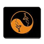 Orange Zen Of Martinis Mousepad