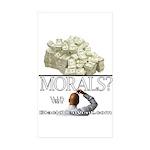 Money Over Morals Sticker (Rectangle 10 pk)