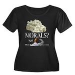 Money Over Morals Women's Plus Size Scoop Neck Dar