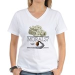 Money Over Morals Women's V-Neck T-Shirt
