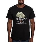 Money Over Morals Men's Fitted T-Shirt (dark)