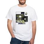 Floppy Disk Geek White T-Shirt