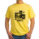 Floppy Disk Geek Yellow T-Shirt