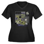 Floppy Disk Geek Women's Plus Size V-Neck Dark T-S