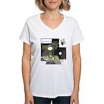 Floppy Disk Geek Women's V-Neck T-Shirt