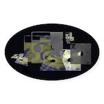 Floppy Disk Geek Sticker (Oval)