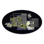 Floppy Disk Geek Sticker (Oval 10 pk)