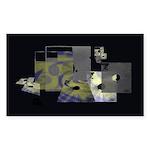 Floppy Disk Geek Sticker (Rectangle 50 pk)