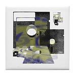 Floppy Disk Geek Tile Coaster