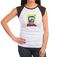 Tickles in a glass Women's Cap Sleeve T-Shirt