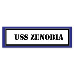 USS Zenobia Sticker (Bumper)