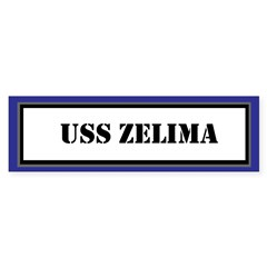 USS Zelima Sticker (Bumper)