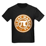 Happy Pi Day 3/14 Circular De Kids Dark T-Shirt