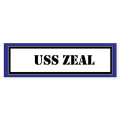 USS Zeal Sticker (Bumper)