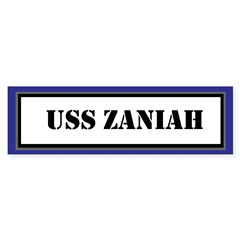 USS Zaniah Sticker (Bumper)